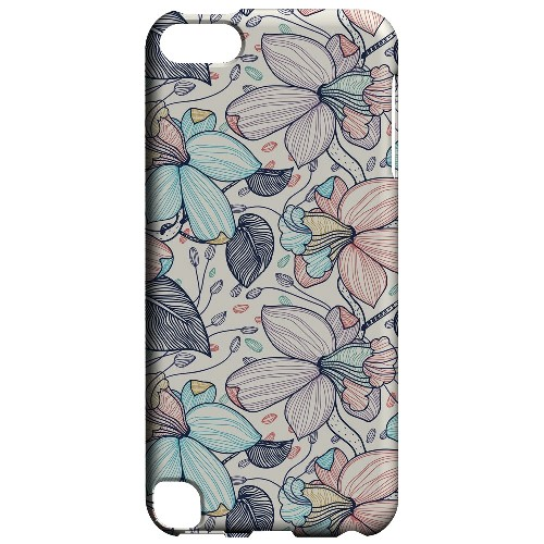 Geeks Designer Line (GDL) Slim Hard Case for Apple iPod Touch 5 - Colorful Orchid Lines