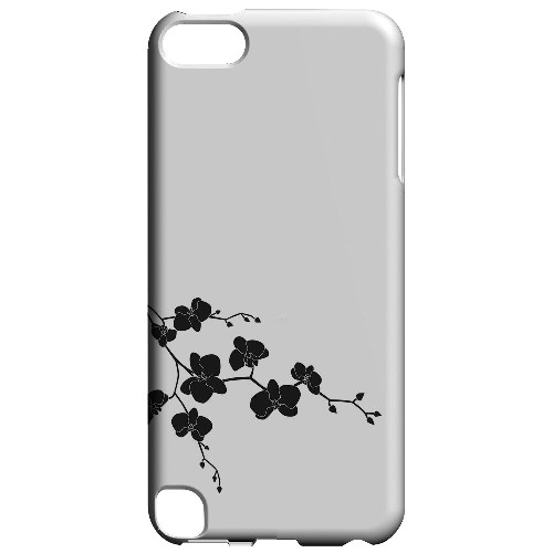 Geeks Designer Line (GDL) Slim Hard Case for Apple iPod Touch 5 - Clean Solid Black Orchid Art