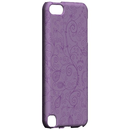 Geeks Designer Line (GDL) Slim Hard Case for Apple iPod Touch 5 - Floral 1 African Violet
