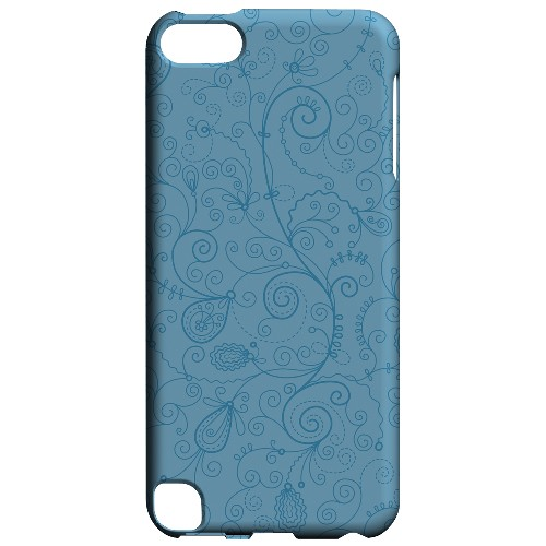 Geeks Designer Line (GDL) Slim Hard Case for Apple iPod Touch 5 - Floral 1 Dusk Blue
