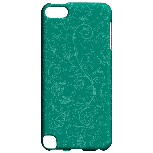 Geeks Designer Line (GDL) Slim Hard Case for Apple iPod Touch 5 - Floral 1 Emerald