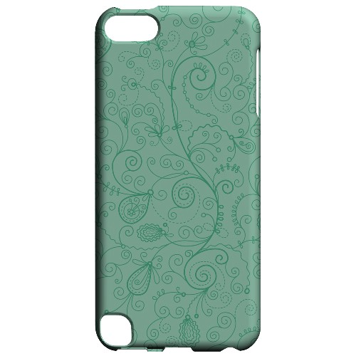 Geeks Designer Line (GDL) Slim Hard Case for Apple iPod Touch 5 - Floral 1 Grayed Jade
