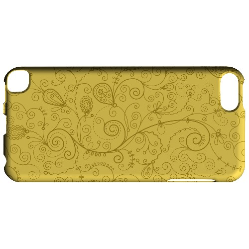 Geeks Designer Line (GDL) Slim Hard Case for Apple iPod Touch 5 - Floral 1 Lemon Zest