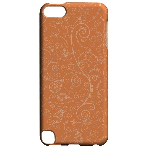 Geeks Designer Line (GDL) Slim Hard Case for Apple iPod Touch 5 - Floral 1 Nectarine