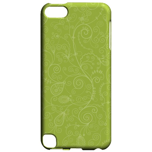 Geeks Designer Line (GDL) Slim Hard Case for Apple iPod Touch 5 - Floral 1 Tender Shoots