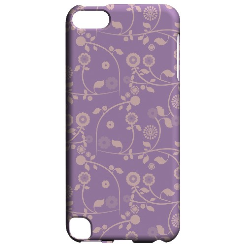 Geeks Designer Line (GDL) Slim Hard Case for Apple iPod Touch 5 - Floral 2 African Violet