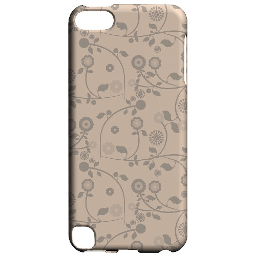 Geeks Designer Line (GDL) Slim Hard Case for Apple iPod Touch 5 - Floral 2 Linen