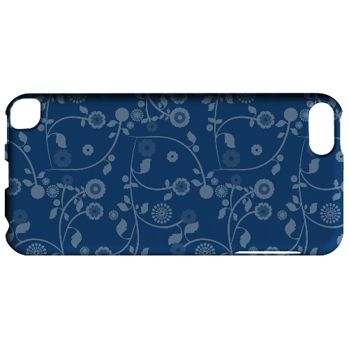 Geeks Designer Line (GDL) Slim Hard Case for Apple iPod Touch 5 - Floral 2 Monaco Blue