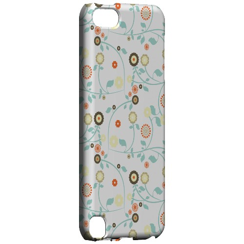 Geeks Designer Line (GDL) Slim Hard Case for Apple iPod Touch 5 - Floral 2 Multi-colored