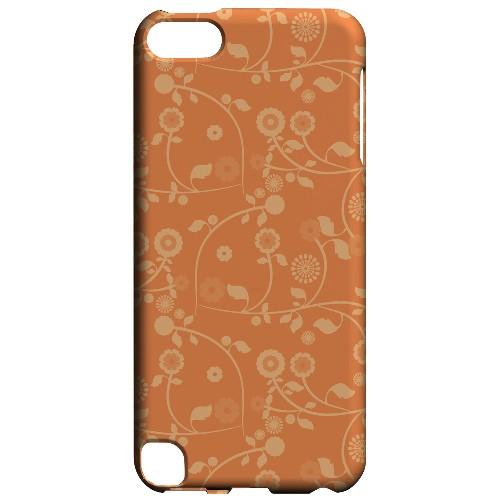 Geeks Designer Line (GDL) Slim Hard Case for Apple iPod Touch 5 - Floral 2 Nectarine