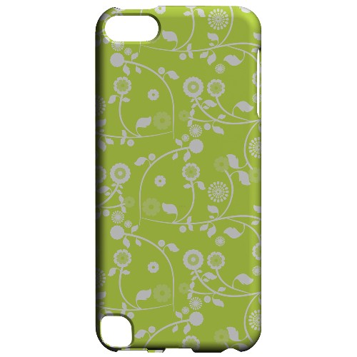 Geeks Designer Line (GDL) Slim Hard Case for Apple iPod Touch 5 - Floral 2 Tender Shoots