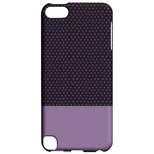 Geeks Designer Line (GDL) Slim Hard Case for Apple iPod Touch 5 - Little Circle Dots African Violet