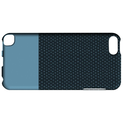 Geeks Designer Line (GDL) Slim Hard Case for Apple iPod Touch 5 - Little Circle Dots Dusk Blue