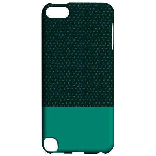 Geeks Designer Line (GDL) Slim Hard Case for Apple iPod Touch 5 - Little Circle Dots Emerald