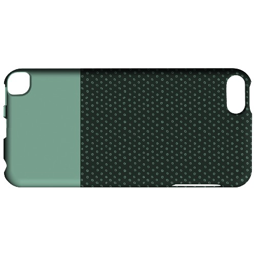 Geeks Designer Line (GDL) Slim Hard Case for Apple iPod Touch 5 - Little Circle Dots Grayed Jade
