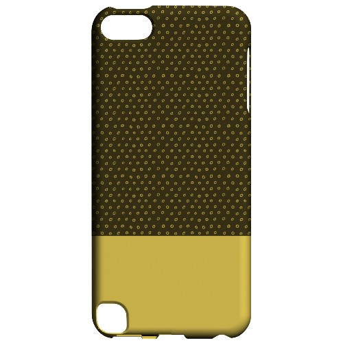 Geeks Designer Line (GDL) Slim Hard Case for Apple iPod Touch 5 - Little Circle Dots Lemon Zest