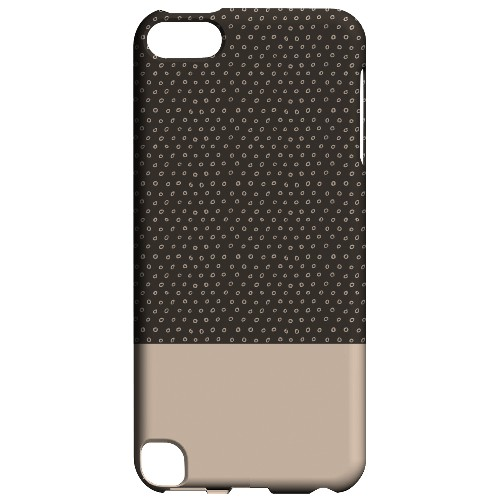 Geeks Designer Line (GDL) Slim Hard Case for Apple iPod Touch 5 - Little Circle Dots Linen
