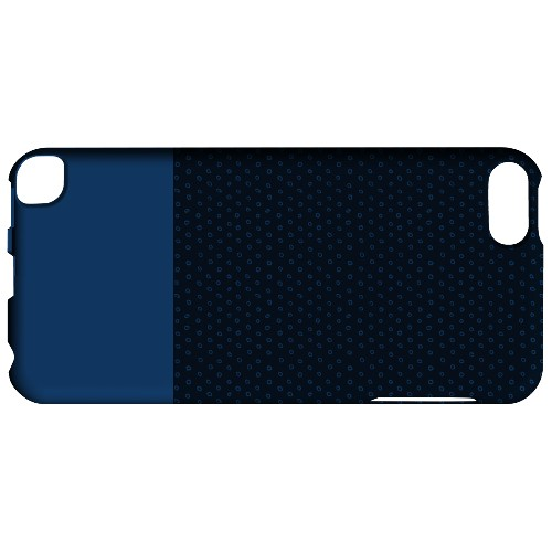 Geeks Designer Line (GDL) Slim Hard Case for Apple iPod Touch 5 - Little Circle Dots Monaco Blue