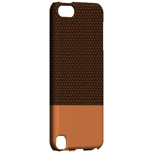 Geeks Designer Line (GDL) Slim Hard Case for Apple iPod Touch 5 - Little Circle Dots Nectarine