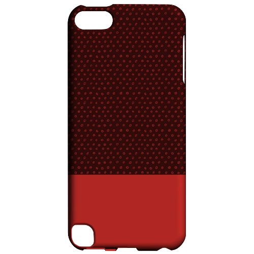 Geeks Designer Line (GDL) Slim Hard Case for Apple iPod Touch 5 - Little Circle Dots Poppy Red