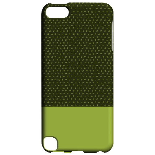 Geeks Designer Line (GDL) Slim Hard Case for Apple iPod Touch 5 - Little Circle Dots Tender Shoots