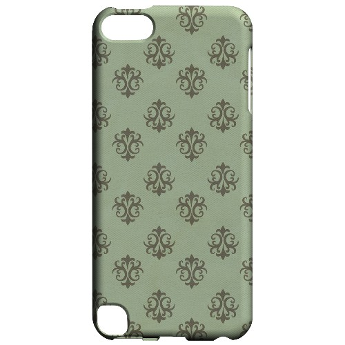 Geeks Designer Line (GDL) Slim Hard Case for Apple iPod Touch 5 - Ornamental Grayed Jade