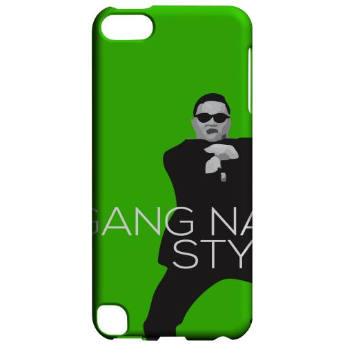 Geeks Designer Line (GDL) Slim Hard Case for Apple iPod Touch 5 - Green Gangnam Style