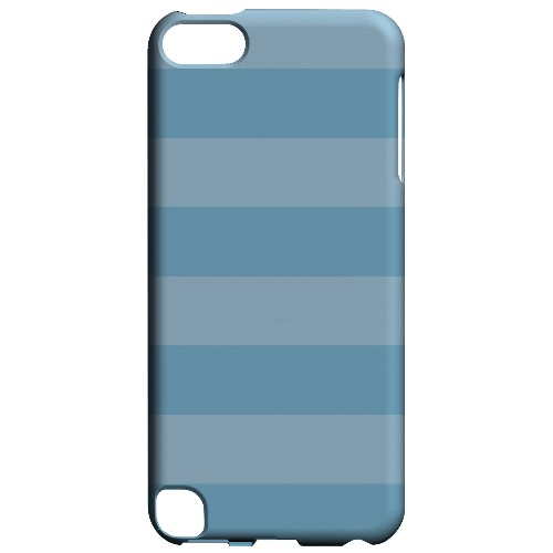 Geeks Designer Line (GDL) Slim Hard Case for Apple iPod Touch 5 - Stripes Dusk Blue