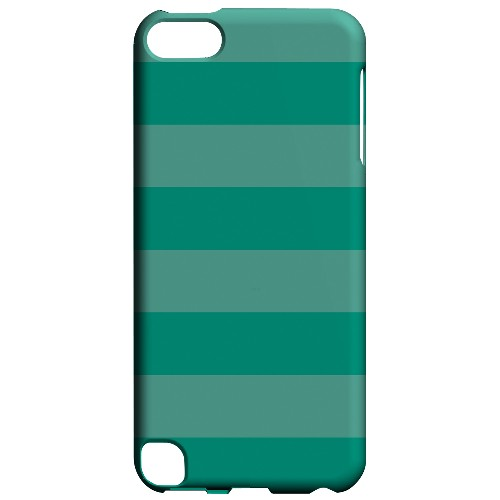 Geeks Designer Line (GDL) Slim Hard Case for Apple iPod Touch 5 - Stripes Emerald