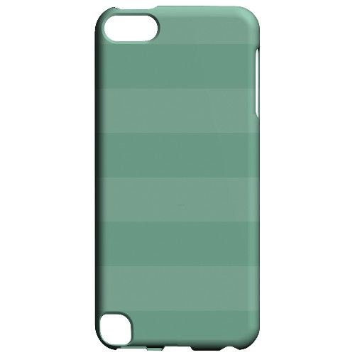 Geeks Designer Line (GDL) Slim Hard Case for Apple iPod Touch 5 - Stripes Grayed Jade
