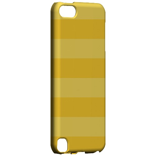 Geeks Designer Line (GDL) Slim Hard Case for Apple iPod Touch 5 - Stripes Lemon Zest