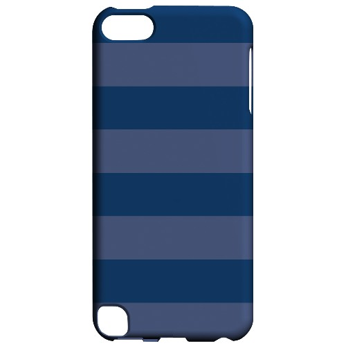 Geeks Designer Line (GDL) Slim Hard Case for Apple iPod Touch 5 - Stripes Monaco Blue