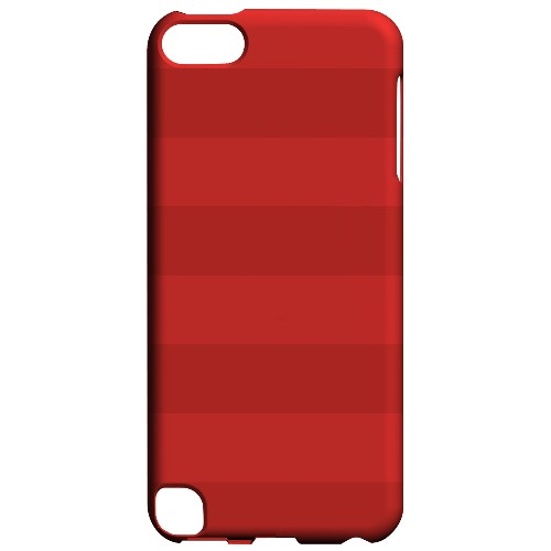 Geeks Designer Line (GDL) Slim Hard Case for Apple iPod Touch 5 - Stripes Poppy Red