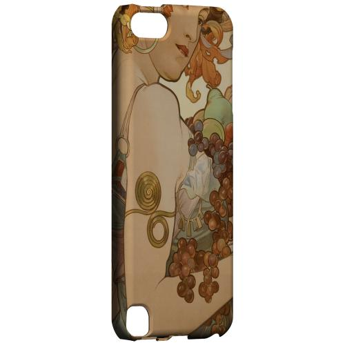 Geeks Designer Line (GDL) Slim Hard Case for Apple iPod Touch 5 - Alphonse Mucha Fruit