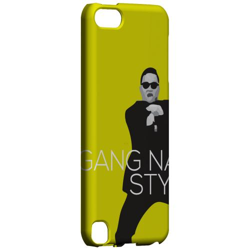 Geeks Designer Line (GDL) Slim Hard Case for Apple iPod Touch 5 - Yellow Gangnam Style