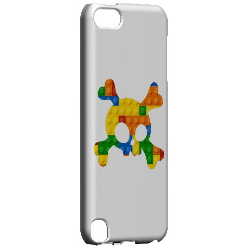 Geeks Designer Line (GDL) Slim Hard Case for Apple iPod Touch 5 - Blocks Crossbones
