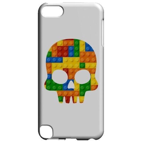 Geeks Designer Line (GDL) Slim Hard Case for Apple iPod Touch 5 - Blocks Skull