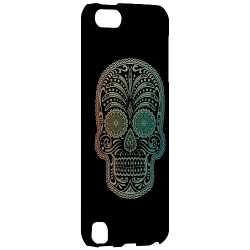 Geeks Designer Line (GDL) Slim Hard Case for Apple iPod Touch 5 - Dia De Los Muertos Blue Red Fade