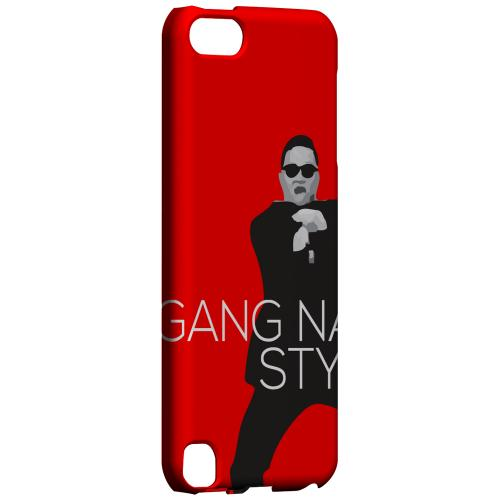 Geeks Designer Line (GDL) Slim Hard Case for Apple iPod Touch 5 - Red Gangnam Style