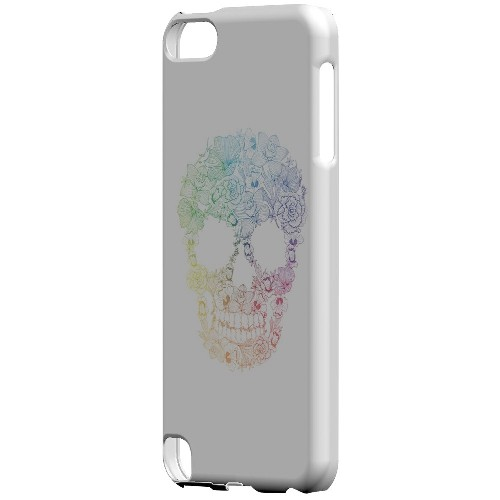Geeks Designer Line (GDL) Slim Hard Case for Apple iPod Touch 5 - Floral Rainbow Skull on White