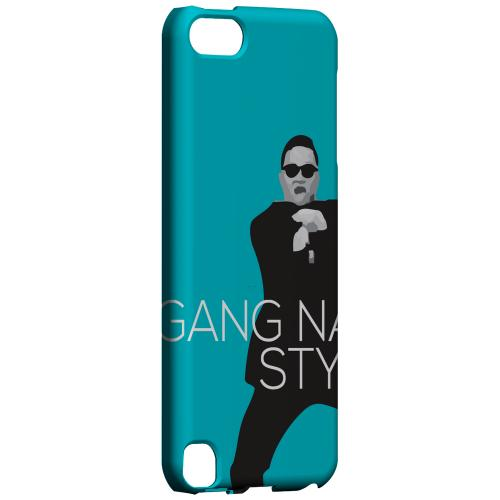 Geeks Designer Line (GDL) Slim Hard Case for Apple iPod Touch 5 - Teal Gangnam Style