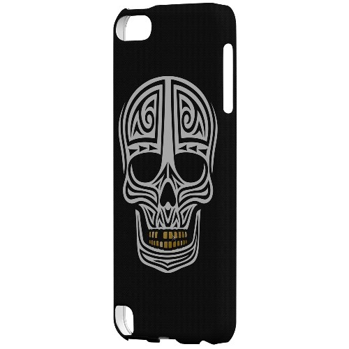 Geeks Designer Line (GDL) Slim Hard Case for Apple iPod Touch 5 - Rapero Muerto on Dark Mesh Dot