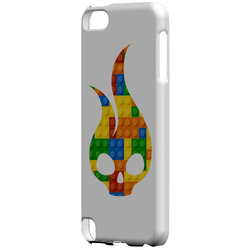 Geeks Designer Line (GDL) Slim Hard Case for Apple iPod Touch 5 - Blocks Flameskull
