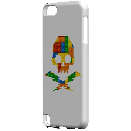Geeks Designer Line (GDL) Slim Hard Case for Apple iPod Touch 5 - Blocks Skull Lightning Crossbones