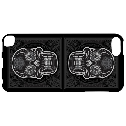 Geeks Designer Line (GDL) Slim Hard Case for Apple iPod Touch 5 - Domino Double Skull
