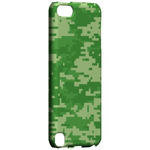 Geeks Designer Line (GDL) Slim Hard Case for Apple iPod Touch 5 - Green Digital Camouflage