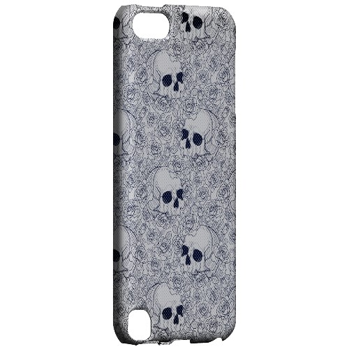 Geeks Designer Line (GDL) Slim Hard Case for Apple iPod Touch 5 - Thorn Skull Blue Halftone