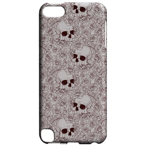 Geeks Designer Line (GDL) Slim Hard Case for Apple iPod Touch 5 - Thorn Skull Red Halftone