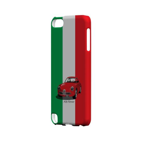 Red Alfa Romeo on Green/ White/ Red - Geeks Designer Line Auto Series Hard Case for Apple iPod Touch 5