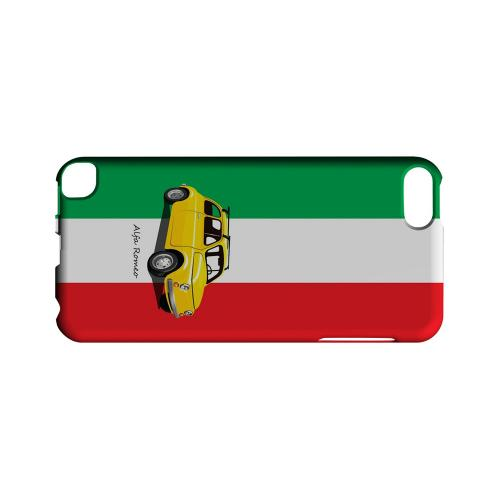 Yellow Alfa Romeo on Green/ White/ Red - Geeks Designer Line Auto Series Hard Case for Apple iPod Touch 5